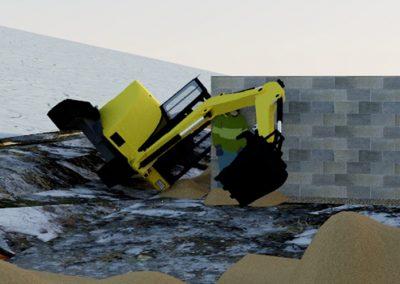 Kaivinkone murskasi rakennusmiehen
