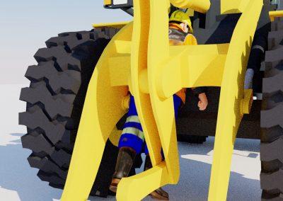 Kuljettaja kuoli työkonetta huoltaessaan