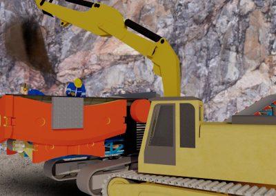 Kaivosmies jäi pudonneen kauhan alle